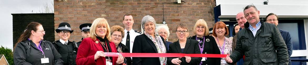 Group of partners opening a Community Police Station