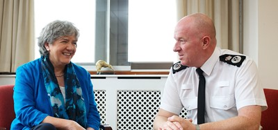 PCC Jane Kennedy talking to Chief Constable Andy Cooke